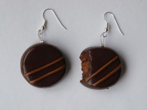 Boucles d'oreilles chocolat