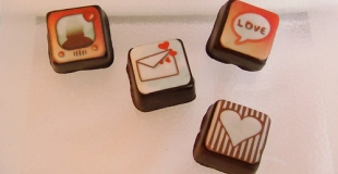 Des coffrets de chocolats en forme d'iPhone
