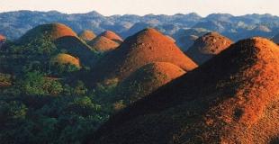 Les collines de chocolat