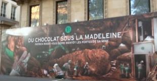 Patrick Roger ouvre sa mine de chocolat, place de la Madeleine à Paris