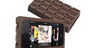 Des téléphones en forme de tablettes de chocolat