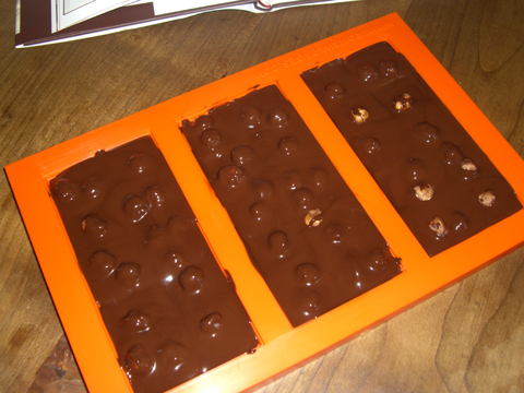 tablettes chocolat noisettes