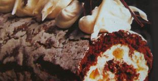 Bûche au chocolat et à l'orange